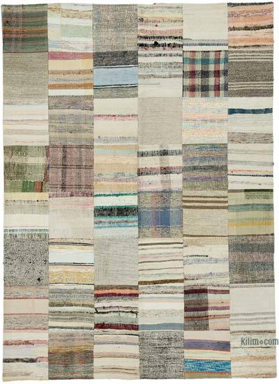 "Turkish Chaput Patchwork Rug - 5'8"" x 7'10"" (68 in. x 94 in.)"