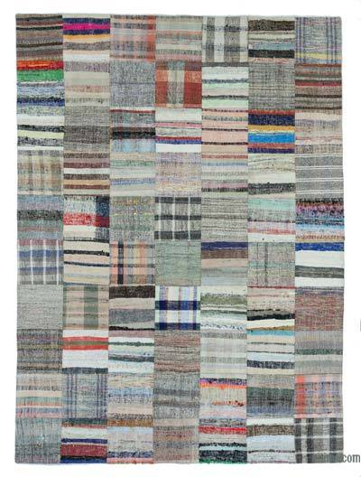 "Turkish Chaput Patchwork Rug - 6'11"" x 9'9"" (83 in. x 117 in.)"