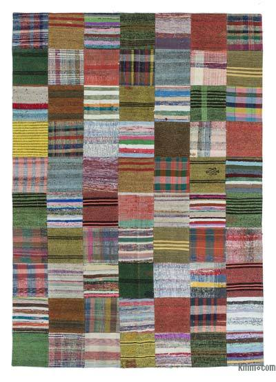 Turkish Chaput Patchwork Rug - 6'10'' x 9'11'' (82 in. x 119 in.)