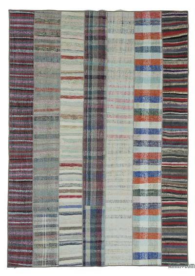 "Turkish Chaput Patchwork Rug - 6'9"" x 9'6"" (81 in. x 114 in.)"