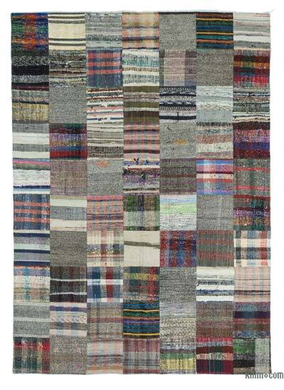"Turkish Chaput Patchwork Rug - 6'11"" x 9'10"" (83 in. x 118 in.)"