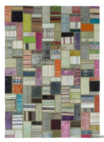 "Turkish Chaput Patchwork Rug - 6'11"" x 9'7"" (83 in. x 115 in.)"