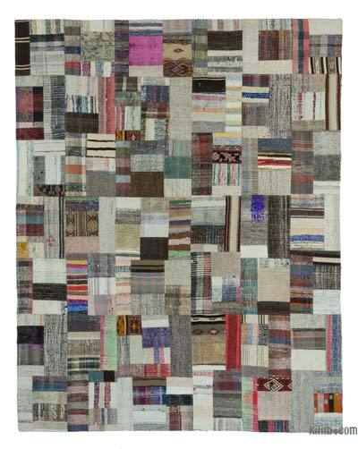 "Turkish Chaput Patchwork Rug - 7'11"" x 10' (95 in. x 120 in.)"