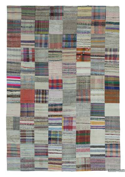 "Turkish Chaput Patchwork Rug - 7'10"" x 11'10"" (94 in. x 142 in.)"