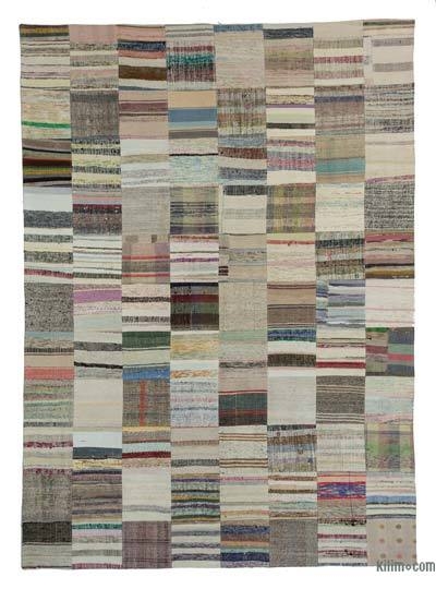 Beige Turkish Chaput Patchwork Rug - 8'2'' x 11'6'' (98 in. x 138 in.)