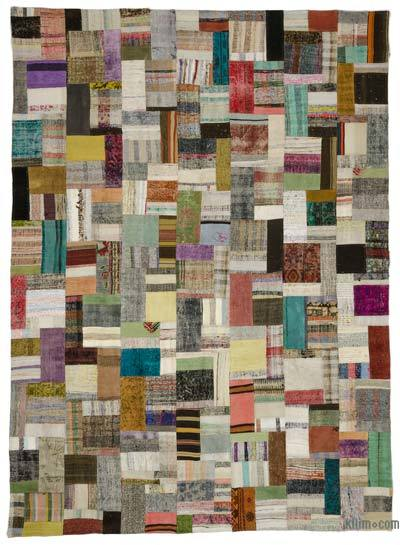 Multicolor Turkish Chaput Patchwork Rug - 8'5'' x 11'7'' (101 in. x 139 in.)