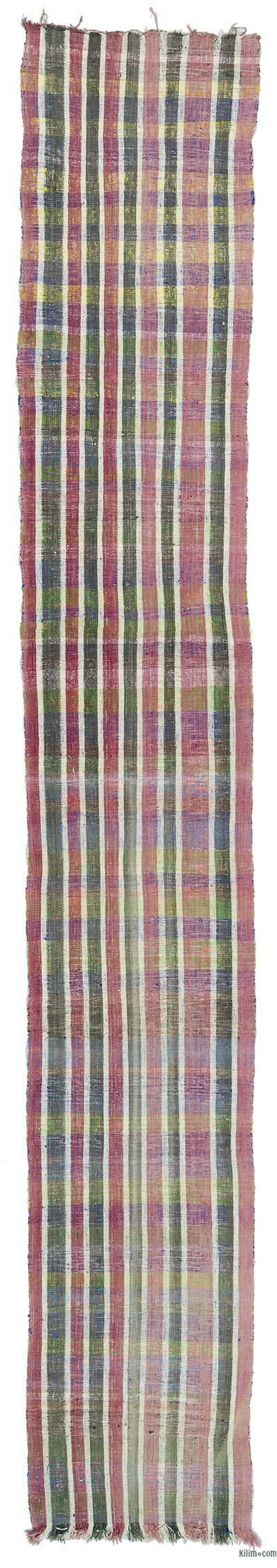 Vintage Turkish Flatweave Runner - 3'3'' x 20'7'' (39 in. x 247 in.)