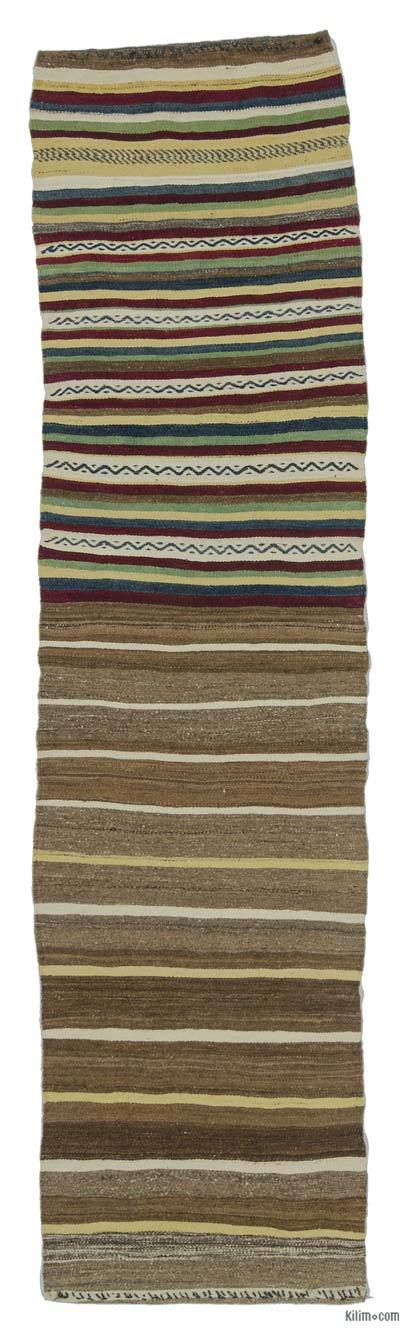 "Vintage Turkish Kilim Runner - 2'3"" x 8'6"" (27 in. x 102 in.)"