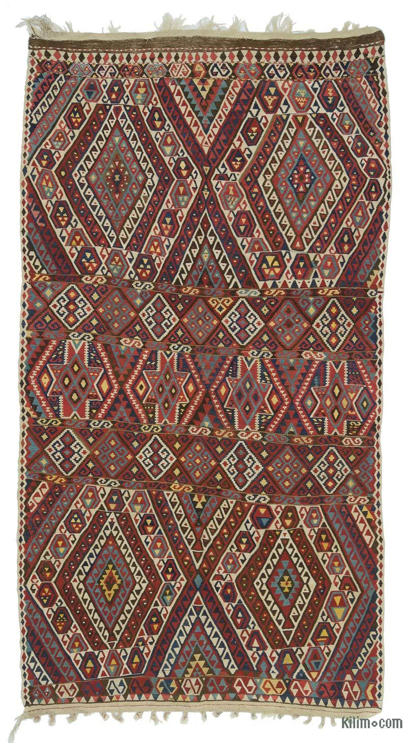 K0020674 Red Antique Malatya Kilim Rug