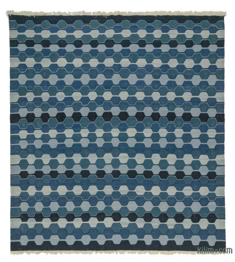 K0020717 Blue New Turkish Kilim Rug