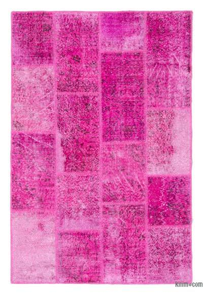 Over-dyed Turkish Patchwork Rug - 4' x 6' (48 in. x 72 in.)