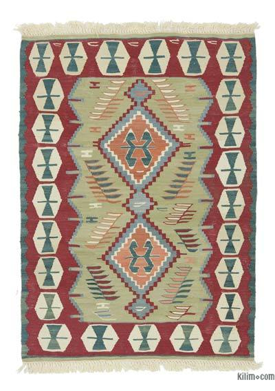 "New Handwoven Turkish Kilim Rug - 2'11"" x 4'2"" (35 in. x 50 in.)"