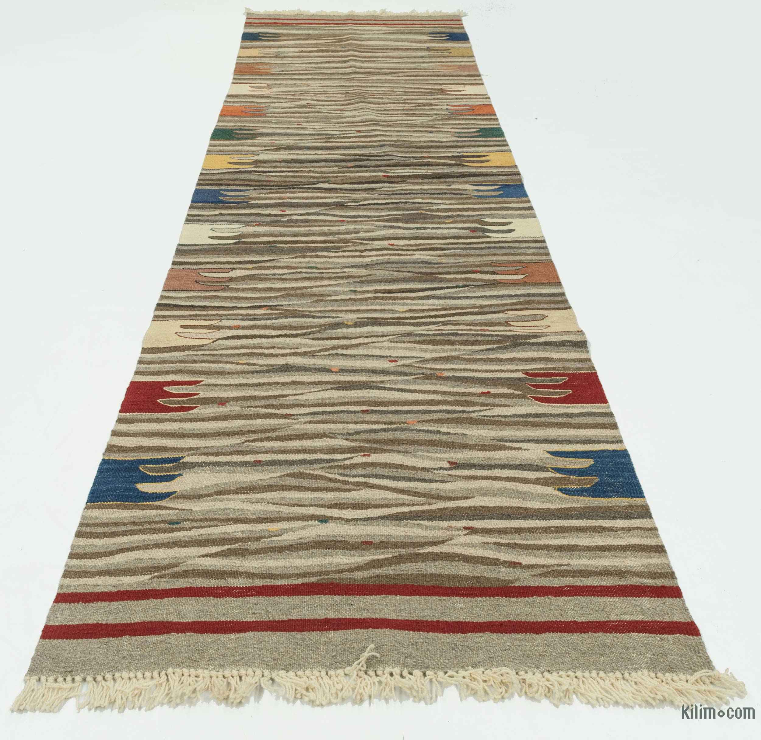 K0020777 Brown, Beige New Turkish Kilim Rug