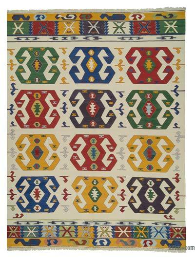 "New Handwoven Turkish Kilim Rug - 9'1"" x 12'10"" (109 in. x 154 in.)"