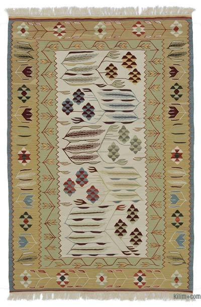 "New Handwoven Turkish Kilim Rug - 3'10"" x 5'8"" (46 in. x 68 in.)"