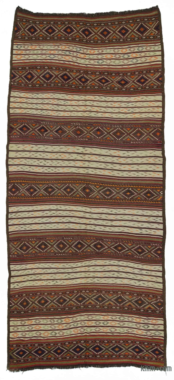 Beige Vintage Persian Kilim Rug