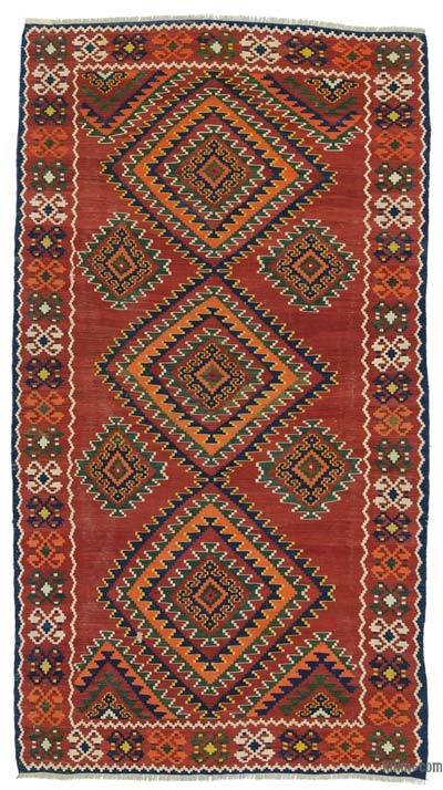 Red Antique Shahsavan Kilim Rug