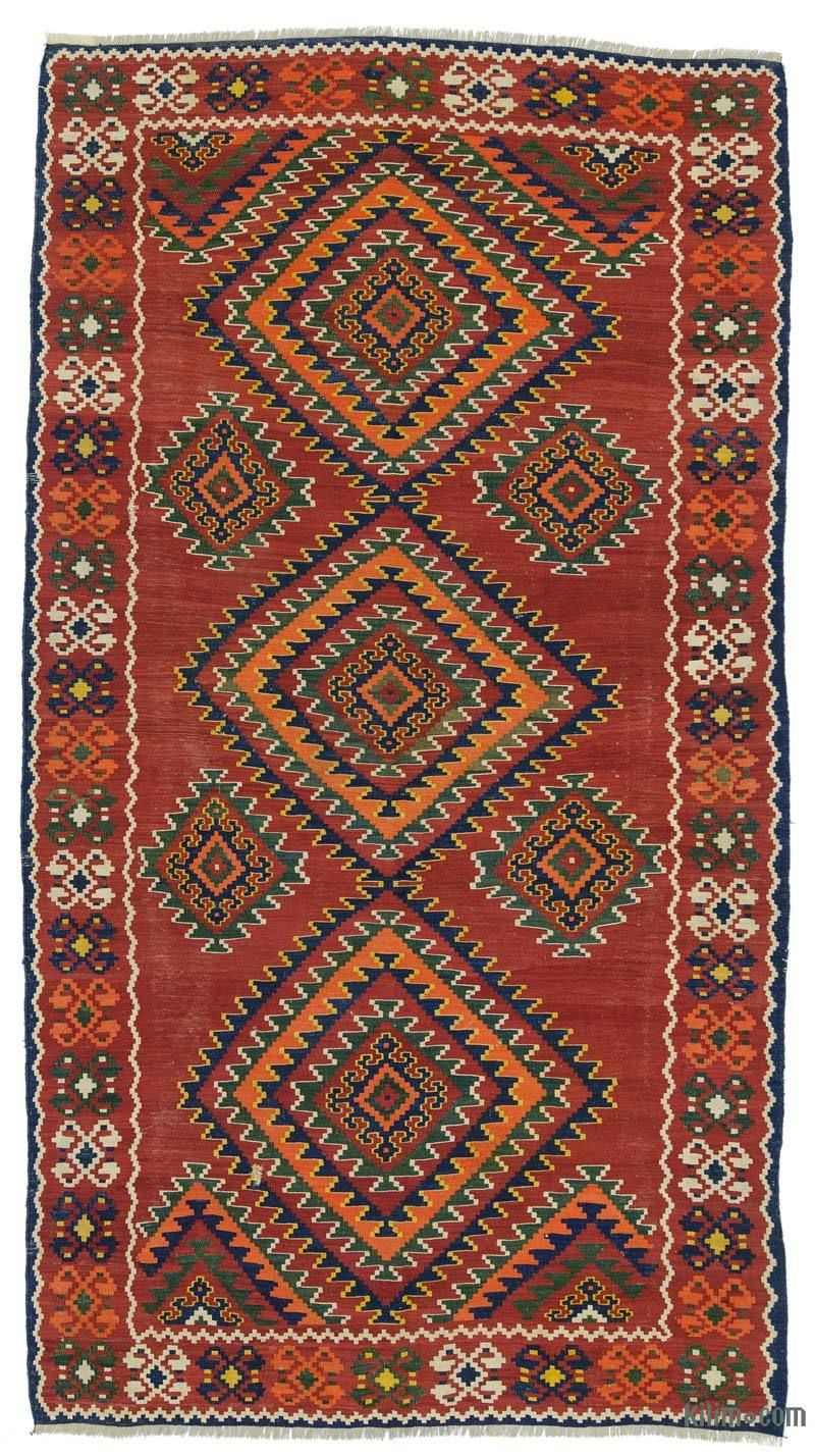 K0020845 Red Antique Shahsavan Kilim Rug
