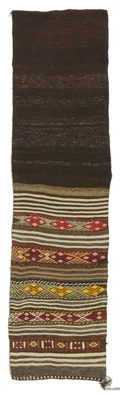 Vintage Turkish Kilim Runner - 2'2'' x 8'5'' (26 in. x 101 in.)