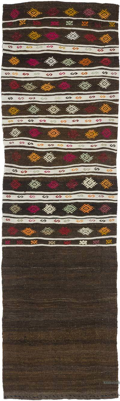 Vintage Turkish Kilim Runner - 2'4'' x 8'2'' (28 in. x 98 in.)