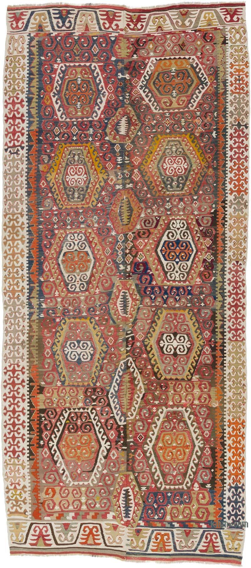 K0020925 Multicolor Vintage Konya Kilim Rug 5 X 11 6