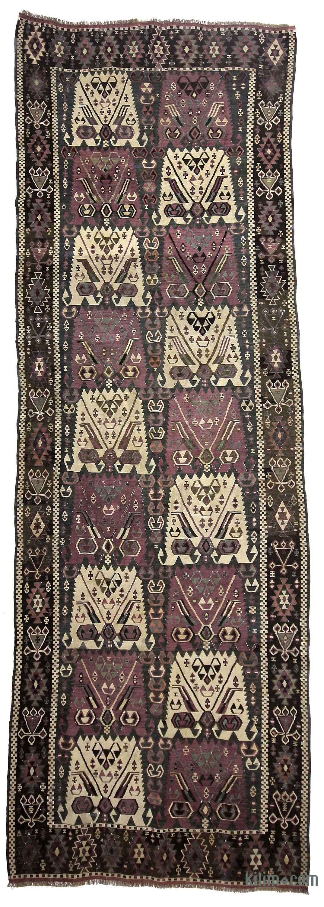 K0020927 Purple Antique Kagizman Kilim Rug