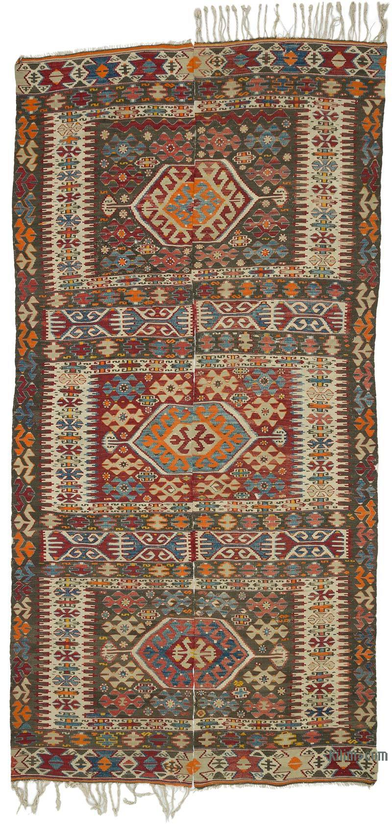 K0020928 Multicolor Antique Aydin Kilim Rug
