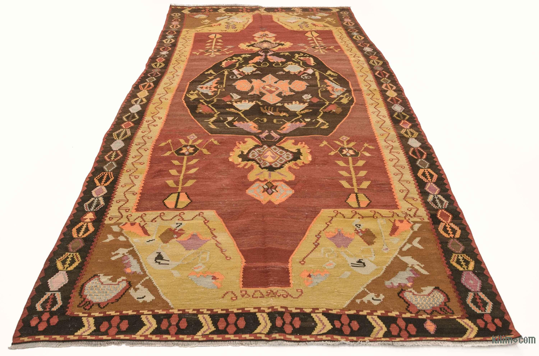 Red Vintage Karabakh Kilim Rug