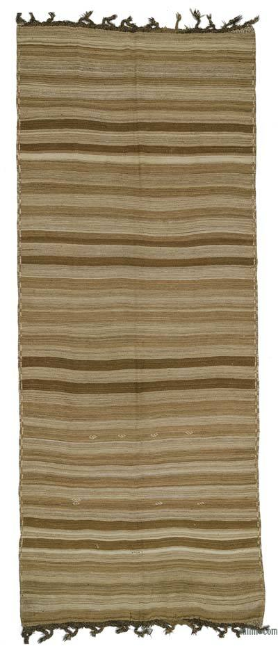 Brown Vintage Turkish Kilim Rug - 5'9'' x 13'11'' (69 in. x 167 in.)