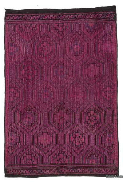 Vintage Turkish Over-dyed Jijim Rug