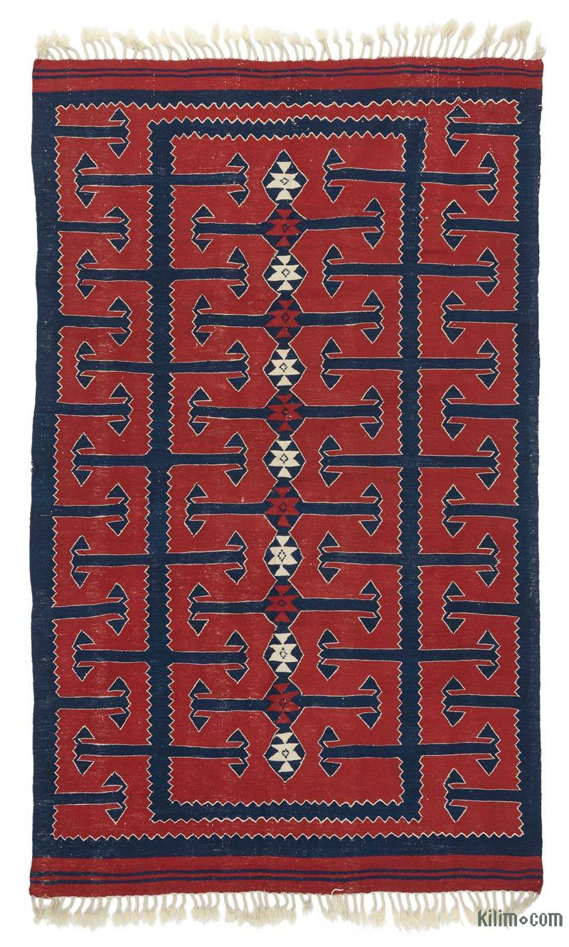 K0021067 Red New Turkish Kilim Rug
