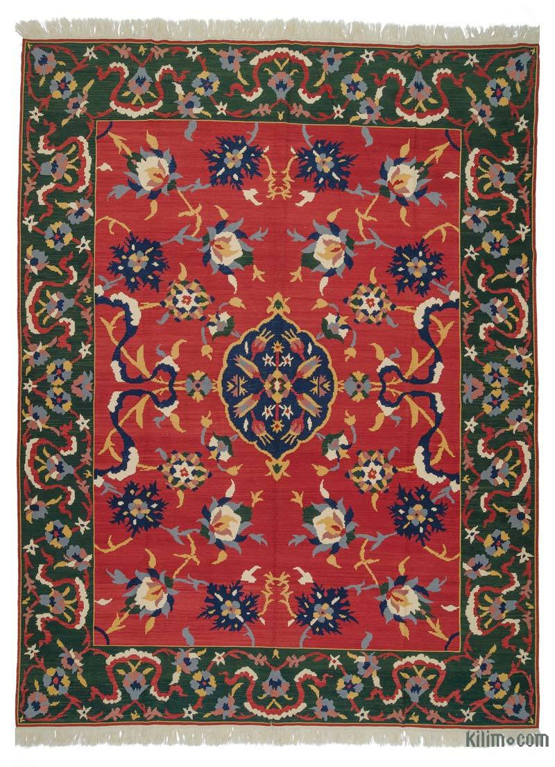Rugs And Kilims Are The Master Elements Of Bohemian Style: K0021071 Red New Turkish Kilim Rug