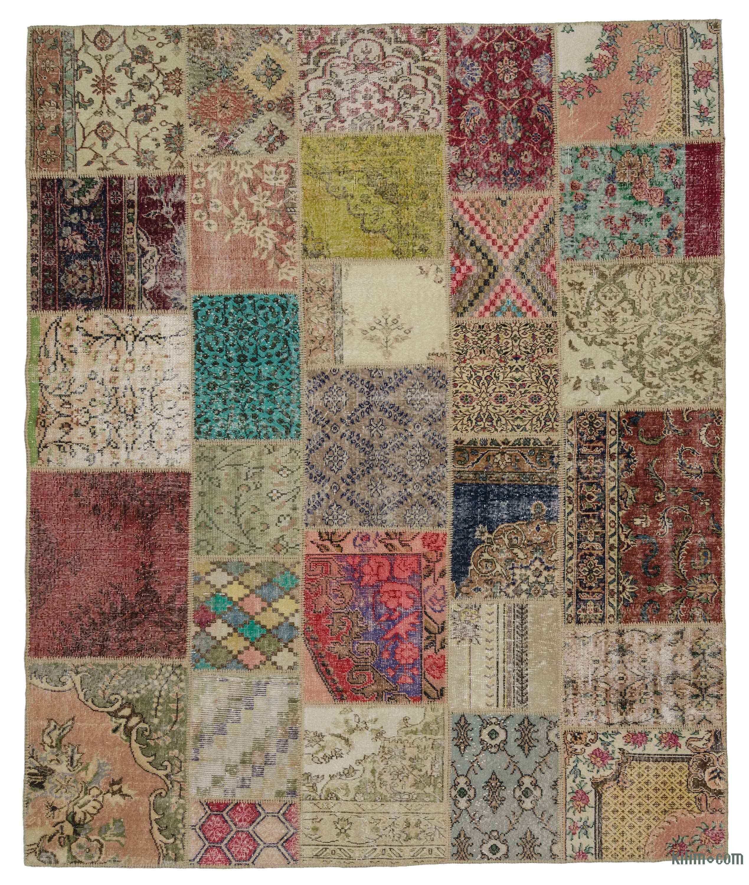 K0021094 Multicolor Turkish Patchwork Rug 8 2 X 9 10