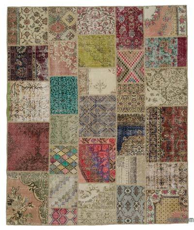 "Turkish Patchwork Rug - 8'2"" x 9'10"" (98 in. x 118 in.)"