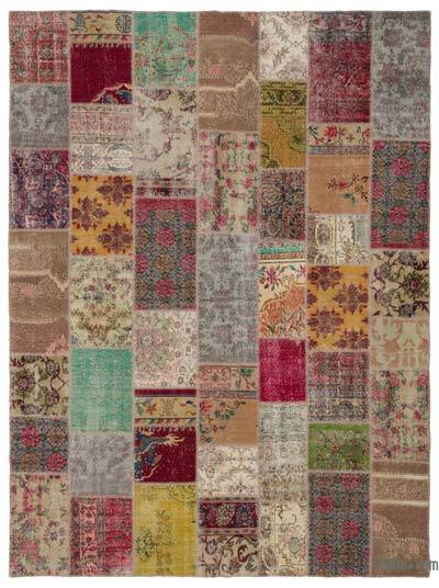 Turkish Patchwork Rug - 8'10'' x 11'11'' (106 in. x 143 in.)