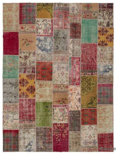 Turkish Patchwork Rug - 8'11'' x 11'10'' (107 in. x 142 in.)