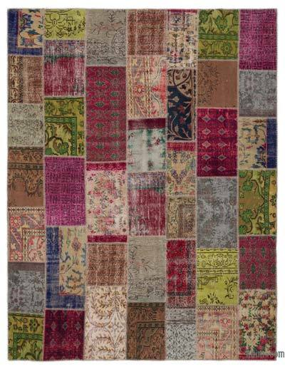 "Turkish Patchwork Rug - 8'10"" x 11'9"" (106 in. x 141 in.)"