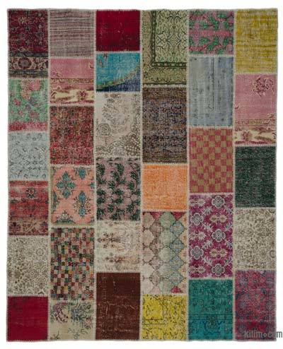"Turkish Patchwork Rug - 8'1"" x 10'2"" (97 in. x 122 in.)"
