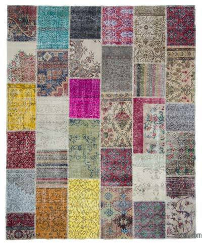 Turkish Patchwork Rug - 8'1'' x 10'1'' (97 in. x 121 in.)