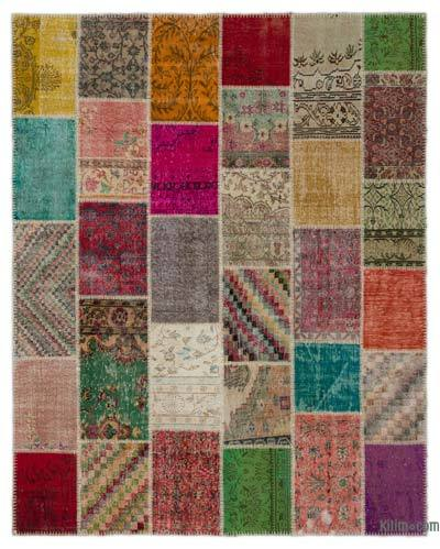 Turkish Patchwork Rug - 8' x 10' (96 in. x 120 in.)