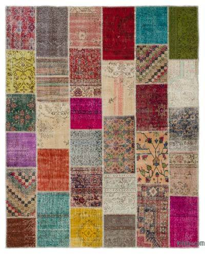 Turkish Patchwork Rug - 8' x 10'1'' (96 in. x 121 in.)
