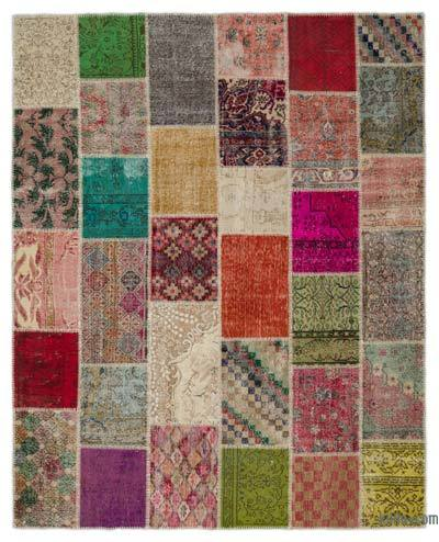 "Turkish Patchwork Rug - 8' x 10'1"" (96 in. x 121 in.)"