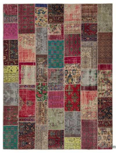 "Turkish Patchwork Rug - 8'10"" x 11'10"" (106 in. x 142 in.)"