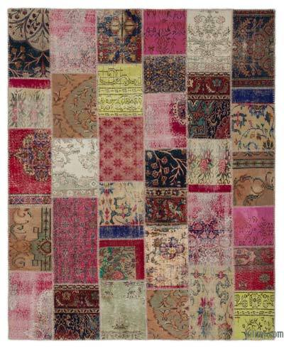 "Turkish Patchwork Rug - 7'10"" x 9'10"" (94 in. x 118 in.)"