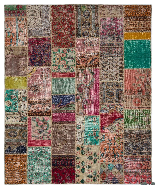 k0021204 turkish patchwork rug | kilim rugs, overdyed vintage rugs