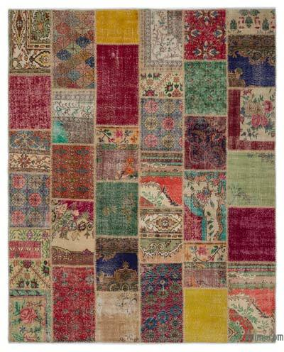 Turkish Patchwork Rug - 8'1'' x 10' (97 in. x 120 in.)