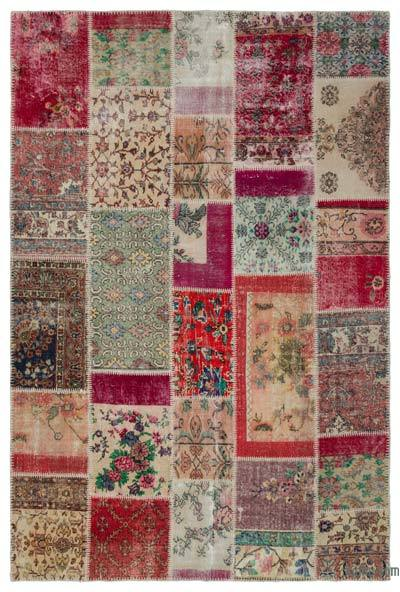 Turkish Patchwork Rug - 6'2'' x 9'3'' (74 in. x 111 in.)