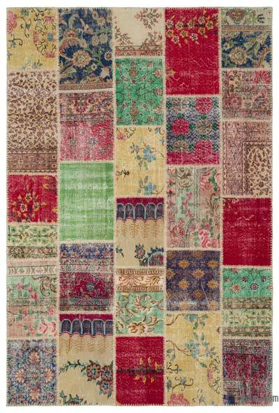 Turkish Patchwork Rug - 6'3'' x 9'4'' (75 in. x 112 in.)