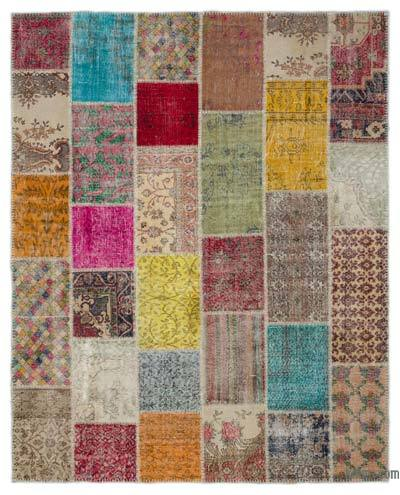 "Turkish Patchwork Rug - 8'1"" x 10' (97 in. x 120 in.)"