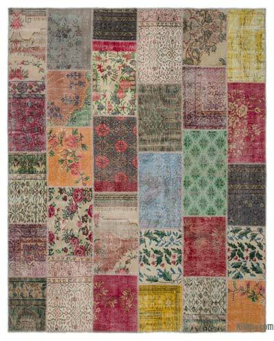 Turkish Patchwork Rug - 7'11'' x 9'10'' (95 in. x 118 in.)